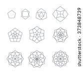vector pentagon black outline...   Shutterstock .eps vector #373848739
