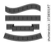 film strip frame set. different ... | Shutterstock . vector #373850197