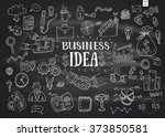 business idea doodles icons set.... | Shutterstock .eps vector #373850581