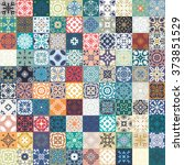 Floral Patchwork Tile Design....
