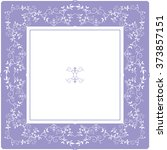 english floral frame | Shutterstock .eps vector #373857151