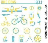bike icon vector illustration. | Shutterstock .eps vector #373858855
