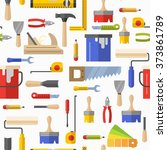 seamless pattern with tools for ... | Shutterstock .eps vector #373861789