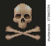 skull and crossbones collected... | Shutterstock .eps vector #373865254