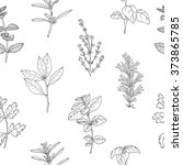 seamless pattern with hand... | Shutterstock .eps vector #373865785