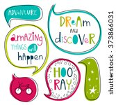dream and discover set. bright... | Shutterstock .eps vector #373866031