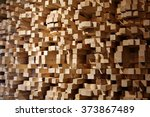 an acoustic diffuser made out... | Shutterstock . vector #373867489