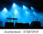 empty illuminated stage with... | Shutterstock . vector #373872919