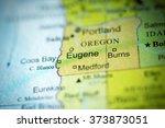 Closeup Of Eugene  Oregon On A...