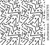 seamless geometric vintage... | Shutterstock .eps vector #373873795