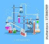 chemistry and science... | Shutterstock .eps vector #373880989