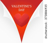heart from paper valentines day ... | Shutterstock .eps vector #373886935