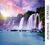 Banyue Or Ban Gioc Waterfall...