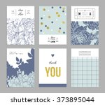 collection of trendy romantic... | Shutterstock .eps vector #373895044