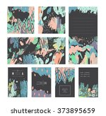 set of creative universal cards ... | Shutterstock .eps vector #373895659