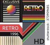 set of vhs design covers. retro ...   Shutterstock .eps vector #373909681