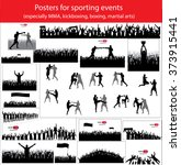posters for sporting events.... | Shutterstock .eps vector #373915441