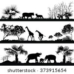 vector set of illustration with ... | Shutterstock .eps vector #373915654