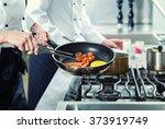 chefs in hotel or restaurant... | Shutterstock . vector #373919749