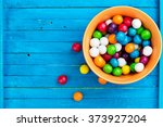Top View Of Colorful Candy On...