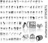 food set of black sketch. part...   Shutterstock .eps vector #37392871