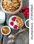 healthy snack   granola on... | Shutterstock . vector #373929865