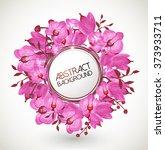 floral vector background... | Shutterstock .eps vector #373933711