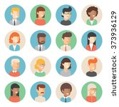 people icon set male and female ...   Shutterstock .eps vector #373936129