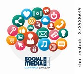 social media design  | Shutterstock .eps vector #373938649