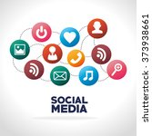 social media design  | Shutterstock .eps vector #373938661