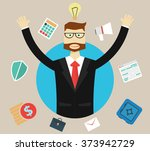 business  success and idea... | Shutterstock .eps vector #373942729
