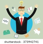 business  success and idea... | Shutterstock .eps vector #373942741