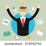 business  success and idea... | Shutterstock .eps vector #373942741