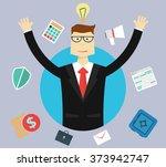 business  success and idea... | Shutterstock .eps vector #373942747