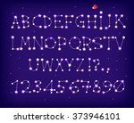 a font made of stars forming... | Shutterstock .eps vector #373946101