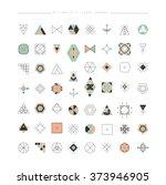 big set of minimal geometric... | Shutterstock .eps vector #373946905