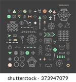 big set of minimal geometric... | Shutterstock .eps vector #373947079