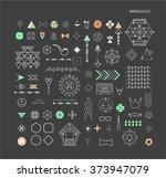 big set of minimal geometric...   Shutterstock .eps vector #373947079