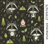 seamless pattern with cute... | Shutterstock .eps vector #373957675