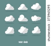 vector illustration of clouds... | Shutterstock .eps vector #373965295