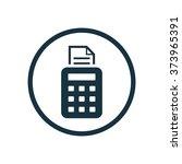 pos terminal icon vector | Shutterstock .eps vector #373965391