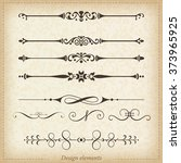 ornamental dividers and... | Shutterstock .eps vector #373965925
