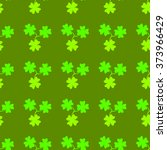 clover leaf  on green... | Shutterstock .eps vector #373966429