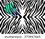 vector  illustration   of zebra ... | Shutterstock .eps vector #373967665