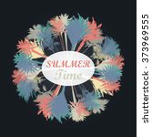 palm tree print | Shutterstock .eps vector #373969555