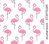flamingo seamless pattern on... | Shutterstock .eps vector #373970185