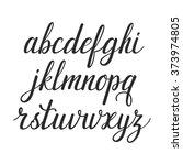 vector calligraphic alphabet.... | Shutterstock .eps vector #373974805