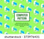 personal computer seamless flat ... | Shutterstock .eps vector #373976431