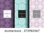 vector cosmetics logo design... | Shutterstock .eps vector #373982467