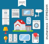 smart home iot internet of... | Shutterstock .eps vector #373982644